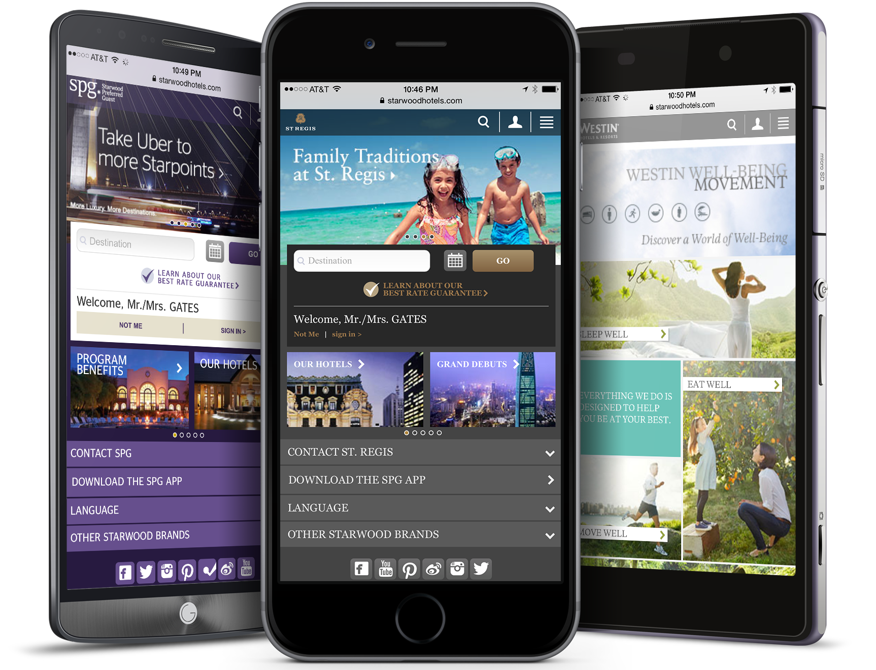 My Team And I Worked For Over A Year To Completely Re Design The Mobile Websites All Nine Of Their Global Hotel Brands Including Westin Sheraton